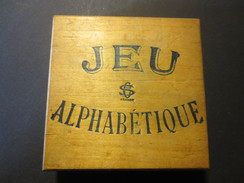 Jeu Ancien En Bois - Jeu Alphabétique - Simonin Cuny - Paris  - France - - Otros