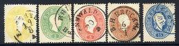 AUSTRIA 1860 Franz Joseph Set Of 5 Perforated 14, Used..  Michel 18-22 - 1850-1918 Empire