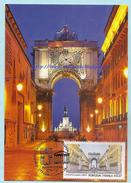 PORTUGAL - FRANCE - JOINT ISSUE LISBON AUGUSTA STREET ARCH MAXIMUM CARD - EMISSION COMMUNE CARTE MAXIMUM - Maximumkaarten