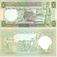 Siria 5 Pounds 1991 Pick 100.e UNC - Siria
