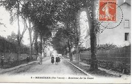 BESSINES AVENUE DE LA GARE ANIMEE 1912 T.B.E. - Bessines Sur Gartempe