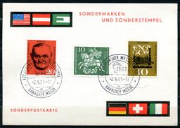 "Germany 1961 Sonderkarte Hannover Messe Mit Mi.Nr.345 U.SST""Hannover Messegelände-Hannover Messe ""1 Karte - Ferien & Tourismus"
