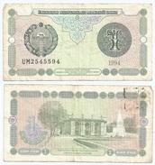 Uzbekistan 1 Sum 1994 Pick 73.a Ref 968 - Uzbekistán