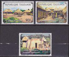 Série De 3 TP Neufs ** N° 1305/1307(Yvert) Togo 1990 - L'habitat Traditionnel - Togo (1960-...)