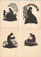 Sihouettes, Handscherenschnitt Von Hartmann-Zeller, 5 Cartes 10 X 15 - Silhouettes
