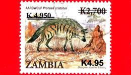 ZAMBIA  - Usato - 2013 - Animali - Fauna - Aardwolf (Proteles Cristatus) - Sovrastampato - 4.95 - Zambia (1965-...)