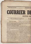 Journal Ancien Catholique Le Courrier De Bruxelles 12 Mai 1872 - Journaux - Quotidiens