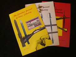 """Lot De 3 Fascicules """" The Canadian Journal Of Arms Collecting """" - Cataloghi"""