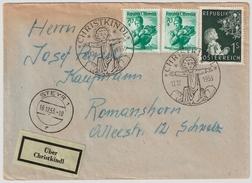 """1953, """" Christkindl """" Mit Leitzettel  , #6801 - 1945-60 Briefe U. Dokumente"""