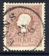 AUSTRIA 1859 10 Kr Type I  Used.  Michel 14 I - 1850-1918 Empire