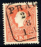 AUSTRIA 1859 5 Kr Type I  Used.  Michel 13 I - 1850-1918 Empire