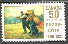 Sc. #492 Suzor-Cote, Return From The Harvest Field 1969 MNH K326 - Neufs