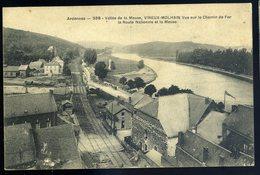 Cpa  Du 08  Vireux Molhain Vue Sur Le Chemin De Fer -- La Route Nationale Et La Meuse  JIP79 - Francia