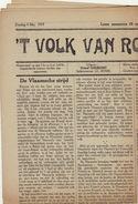 Journal Ancien Politique Catholique Het Volk Van Ronse Renaix 4 Mai 1919 - Journaux - Quotidiens