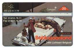 Belgique, Belgacom, Telecard 20, Thème, Parcs, Bobbejaanland, Lichtaart, Belgium - Schede Telefoniche