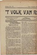 Journal Ancien Politique Catholique Het Volk Van Ronse Renaix 11 Mai 1919 - Kranten