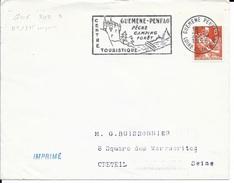 LOIRE ATLANTIQUE  -  GUEMENE PENFAO  FLAMME GUE 202 S -   AU TARIF   IMPRIME   1958  (voir Description) - Marcophilie (Lettres)