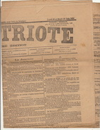 Journal Ancien Politique LE PATRIOTE 28 29 Juin 1886 - Journaux - Quotidiens