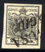 AUSTRIA 1850 2 Kr Type III On Hand-made Paper  Used.  Michel 2x - 1850-1918 Empire