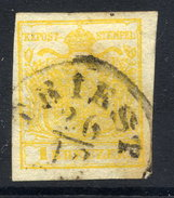 AUSTRIA 1850 1 Kr Type III On Hand-made Paper  Used.  Michel 1x - 1850-1918 Empire