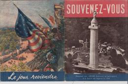 FRANCE  USA   1917 - 1942   ROOSEVELT  SOUVENEZ VOUS LE JOUR REVIENDRA  LIVRET DE  32 PAGES   SUPERBE VOIR 4 SCANS - Oorlog 1939-45