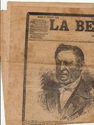 Journal Ancien Politique LA BELGIQUE Mort De Jules Malou - Journaux - Quotidiens