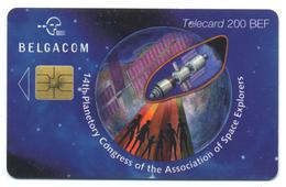 Belgique, Belgacom, Telecard 200, Thème, Espace, 14th Planetory Congress Of The Association Of Space Explorers - Espacio