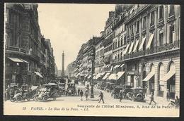 PARIS Rare Souvenir Hôtel Mirabeau Rue De La Paix (LL) (75) - Cafés, Hôtels, Restaurants