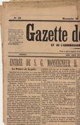 Journal Ancien GAZETTE DE RENAIX ET L'ARRONDISSEMENT D'AUDENARDE 26 Mai 1889 Lambrecht évêque De Gand - Zeitungen