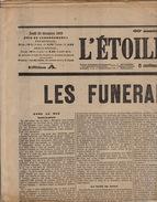 Journal Ancien L'ETOILE BELGE 22 Décembre 1909 Mort Du Roi Leopold II Les Funérailles - Journaux - Quotidiens