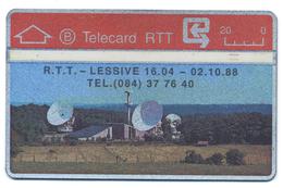 Belgique, Belgacom, Telecard 20, Thème, Téléphones, Site RTT De Lessive - Telefoni