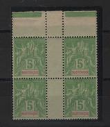Martinique _ Millésimes  Bloc De 5c Sage N°43  Sans Millésimes TTB - Martinique (1886-1947)