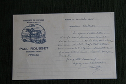 Lettre Ancienne : ROMANS - Paul ROUSSET, Commerce De Chevaux Et De Mulets. - 1900 – 1949