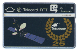 Belgique, Belgacom, Telecard 20, Thème, Espace, Satellite De Communications Intelsat - Spazio