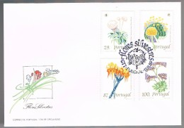 Portugal, 1989, FDC Flores Silvestres, Carimbo Funchal - FDC