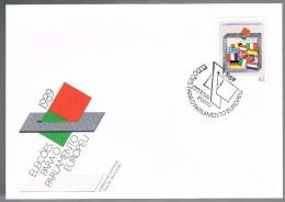 Portugal, 1989, FDC Eleições Para O Parlamento Europeu, Carimbo Porto - FDC