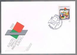 Portugal, 1989, FDC Eleições Para O Parlamento Europeu, Carimbo Faro - FDC