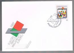 Portugal, 1989, FDC Eleições Para O Parlamento Europeu, Carimbo Coimbra - FDC