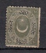 Turquie  1867  YT N°13  10 Pa Vert Olive - 1858-1921 Empire Ottoman