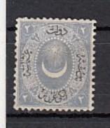 Turquie  1867  YT N°16  2 Pi Bleu Gris - 1858-1921 Empire Ottoman