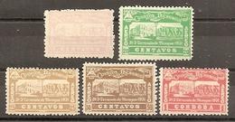 NICARAGUA 1932 - Yvert #A17/21 - MLH * - Nicaragua