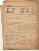 Journal Ancien Politique Catholique LE RALLIEMENT DE RENAIX ET SES ENVIRONS élection 21 Octobre 1923 - Journaux - Quotidiens