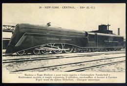 Cpa  Train -- Locomotive New York Central -- Machine Hudson Pour Trains Commodore Vanderbilt  JIP79 - Trains