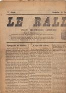 Journal Ancien Politique Catholique LE RALLIEMENT DE RENAIX ET SES ENVIRONS élection 15 Novembre 1925 - Journaux - Quotidiens