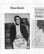 Tino Rossi - Autographes