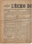 Journal Ancien L'ECHO DE RENAIX 18 Novembre 1918 édition Spéciale - Journaux - Quotidiens