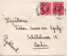 Suède Lettre Pour L'Allemagne 1898 - 1885-1911 Oscar II