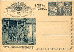 16876 Poland, Stationery Card  1939, Kartka Pocztowa Komendant J. Pilsudski, 1915 - Ganzsachen
