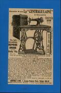 MACHINES A COUDRE - PUB LAINE - Pub Issue D'une Revue De 1906 Collée Sur Feuillet - Publicités