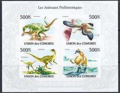 Comores Prehistoric Prehistoire Dinosaures Dinosaurs Imperf - Prehistory